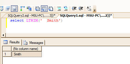 Commonly used built in string functions in sql server.