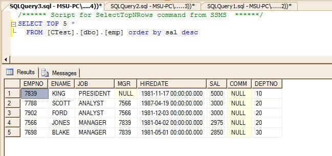 SQL Syntax differences between MSSQL and MySQL