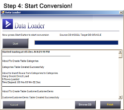 Start Converting MSSQL database to Oracle
